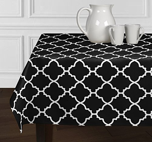 Black & White Trellis Tablecloths Dining room Kitchen Rectangle Oblong 60x102
