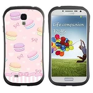 LASTONE PHONE CASE / Suave Silicona Caso Carcasa de Caucho Funda para Samsung Galaxy S4 I9500 / Sweets Bowtie Girls Dessert