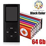 Thor 64 GB Slim 1.8″ LCD Mp3 Mp4 Player Media/Music/Audio Player with accessories(Black Color)