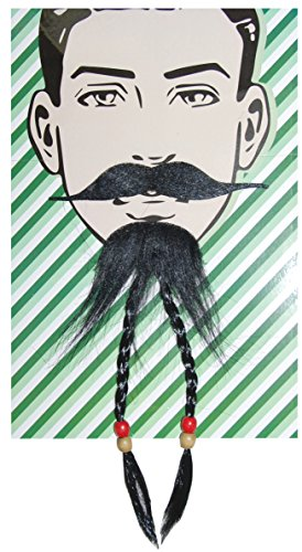 Self Adhesive Beard and Mustache Halloween Costume Accessory (Tribal Man Beard)