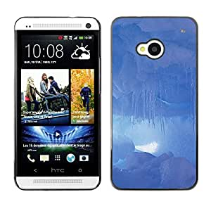LECELL -- Funda protectora / Cubierta / Piel For HTC One M7 -- Nature Clouds --