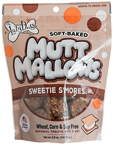 Lazy Dogs Mutt Mallows Soft Baked Dog Treats Sweetie Smores 5 oz Bag