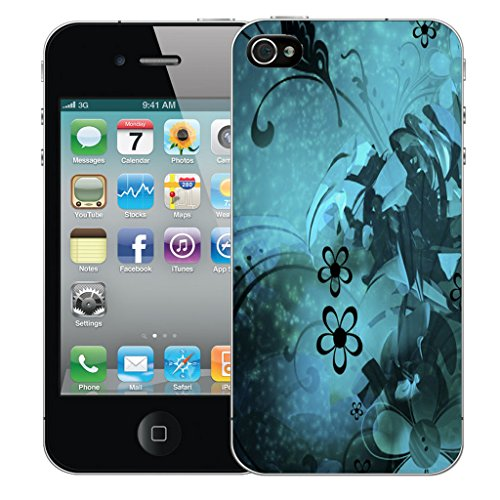Mobile Case Mate iPhone 4s Silicone Coque couverture case cover Pare-chocs + STYLET - Natures Bounty pattern (SILICON)