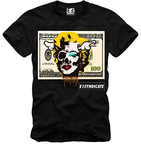 E1syndicate T Shirt Marilyn Monroe James Dean Dollar Banknote Elvis