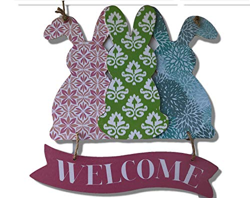 (Plum Nellie's Treasures Happy Easter Welcome Signs Bunnies, Bunny (Pattern Bunnies Welcome))