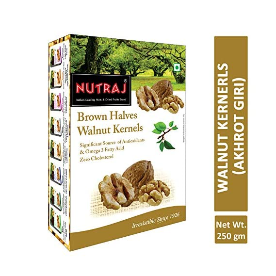 Nutraj Brown Halves Walnut Kernels (Akhort Giri) 250g
