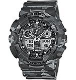 Casio - GA-100CM-8AER - G-Shock - Montre Homme - Quartz Analogique - Digital - Cadran Gris - Bracelet Résine Gris