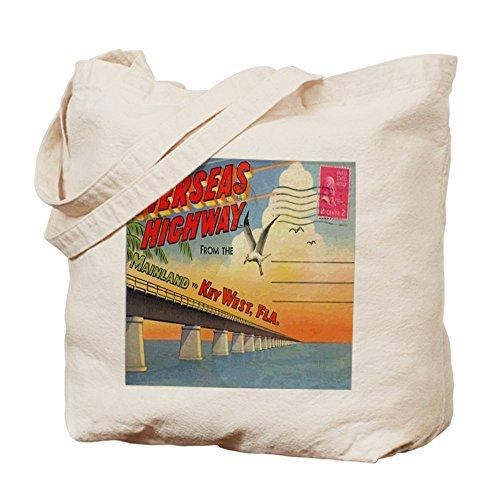 CafePress diseño de clave West Florida postal Tote Bag–Natural gamuza de bolsa de lona bolsa, bolsa de la compra