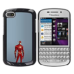 A-type Colorful Printed Hard Protective Back Case Cover Shell Skin for BlackBerry Q10 ( Superhero Red Costume Cartoon Comic Man Mask )