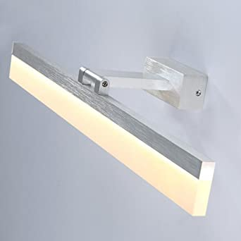 LED 8W Spiegelleuchte Aluminium Silber Wandleuchte Warmweiß ...