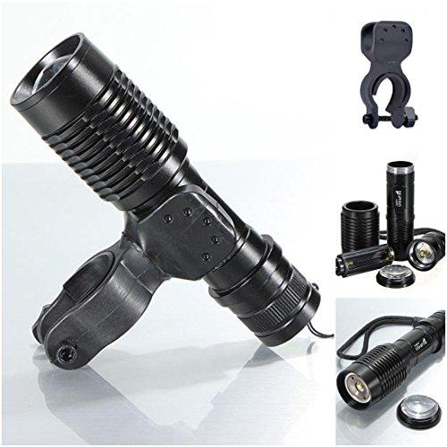 Splendid 3 Modes 2000Lm LED Popular Bike Light Adjustable Brightness Zoomable Lamp Headlight Color Black with - Black Wrestling Amber
