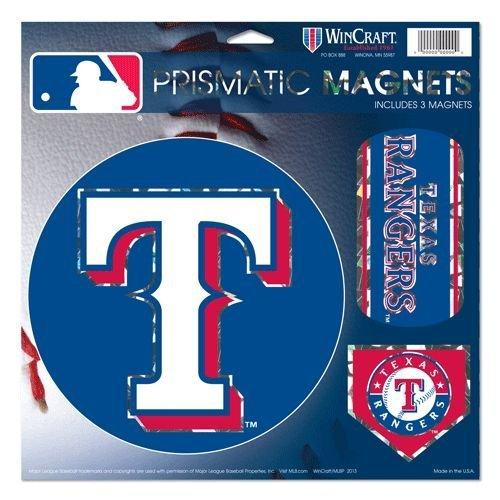 (Wincraft MLB Texas Rangers Prismatic Magnets Sheet, 11