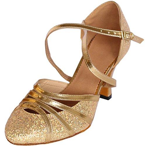 CFP JJ-6134 Womens Latin Tango Cha-cha Salsa Ballroom 2.4''/3.3