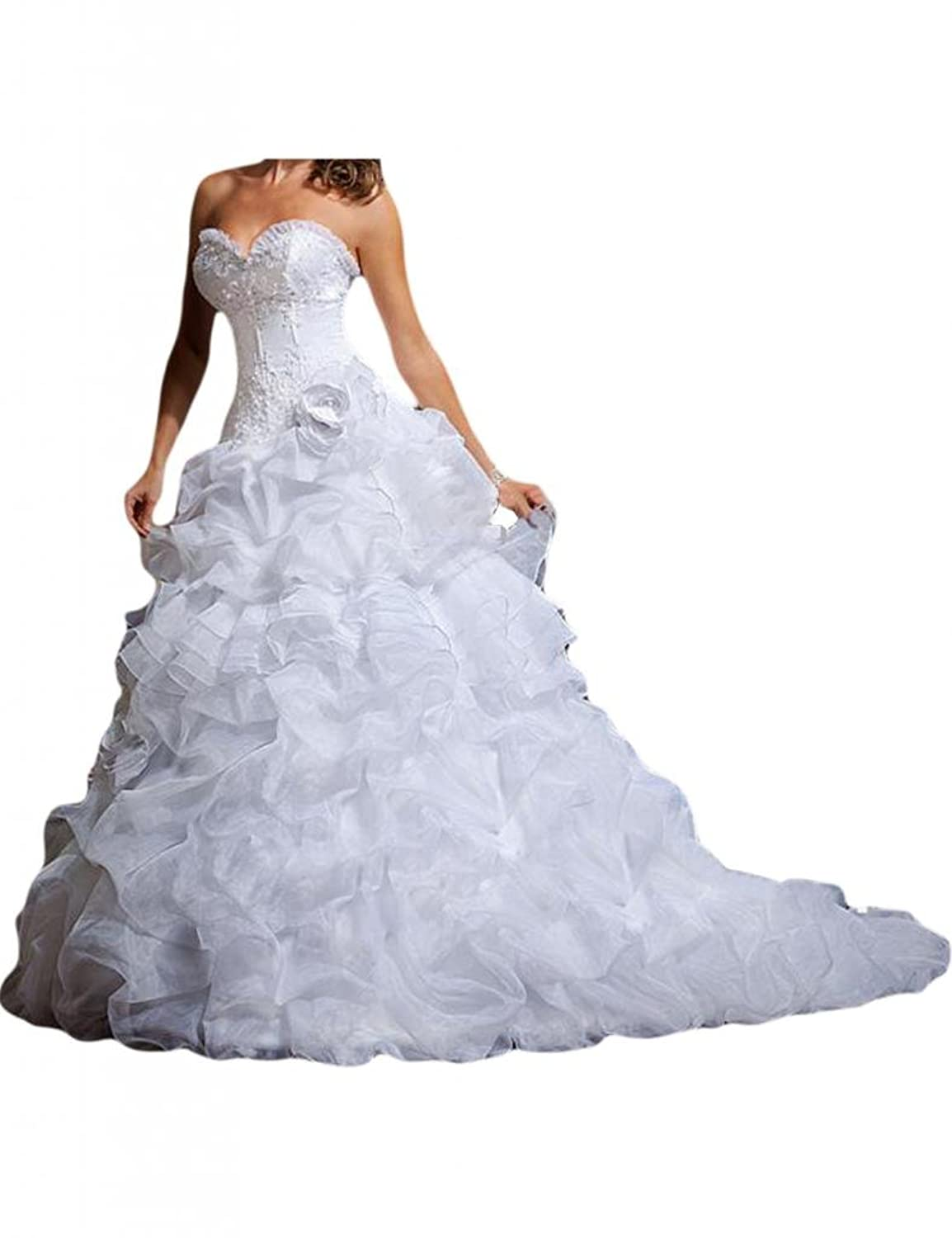 Gorgeous Bridal Detachable Skirt Organza Wedding Dress Short Bridal ...