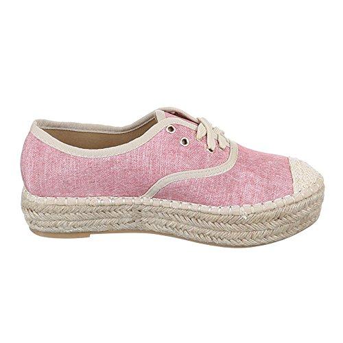 Ital Women's Design Shoes PINK Pink O4zOrv