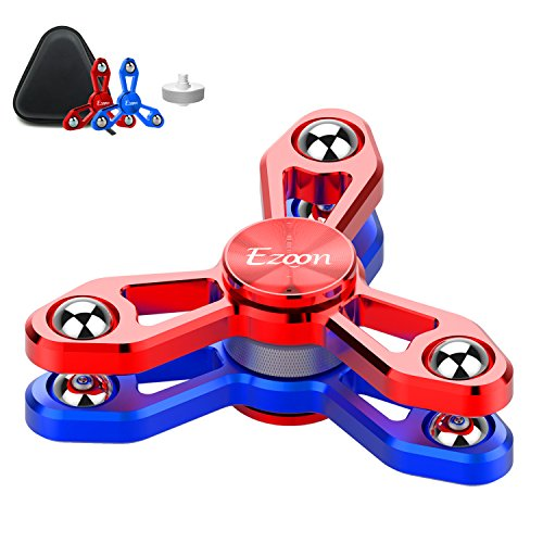 ezoon-tri-fidget-spinner-metal-finger-toys-aluminum-hand-spinner-replaceable-bearing-max-4-mins-spin