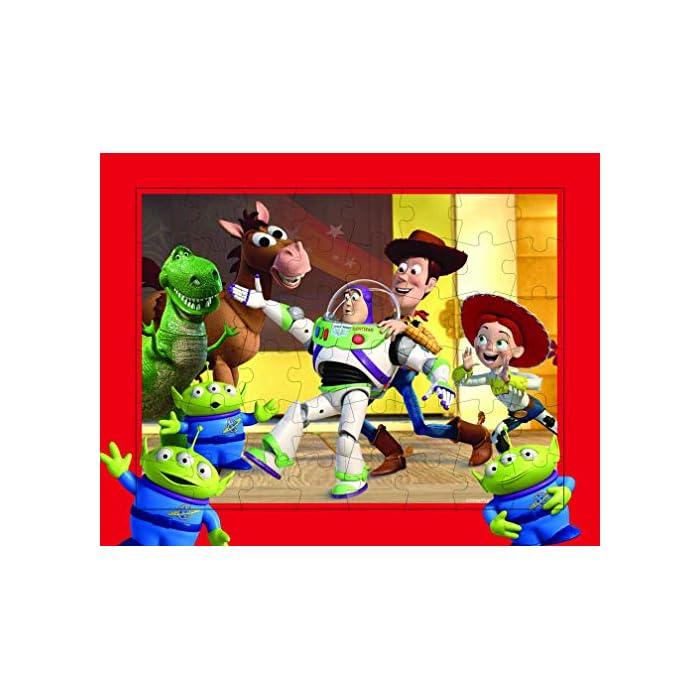 51%2BpPWh41TL Conjunto de 3 puzles con los personajes de la película Toy Story 4 Los puzles tienen efecto lenticular (3D) y se componen de 48 piezas grandes Las medidas de los puzles son 30 x 23 cm
