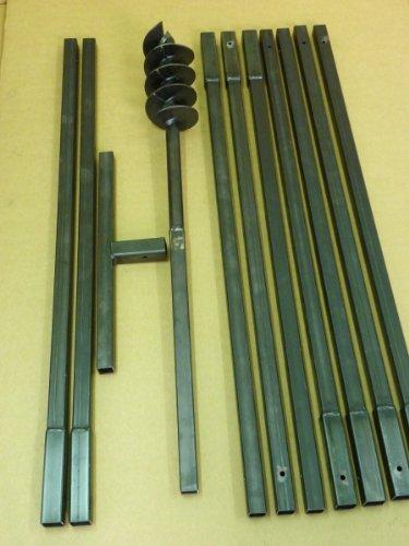 Erdbohrer Erdlochbohrer Brunnenbohrer Pfahlbohrer Handbohrer 120 mm 10 meter Bohrgerät f. Brunnen und Rammfilter