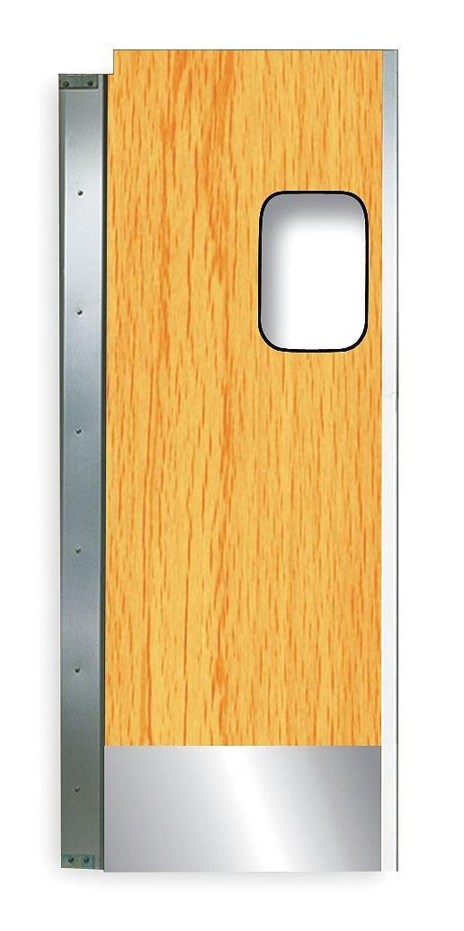 TMI - 999-00347 - Aluminum/Laminate Swinging Door, Light Wood; Number of Doors: 2, 6 ft.W x 7 ft.H