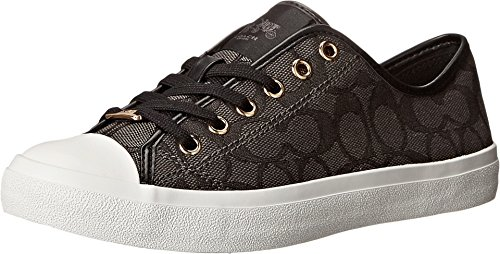 Coach Womens Empire Outline Sneaker Black-Smoke/Black Size 8