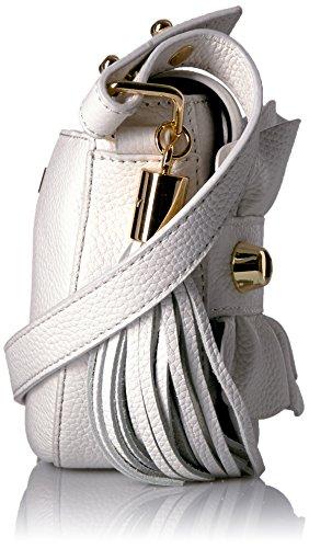 Small Saddle Crossbody Ruffle MILLY Astor White ZwP4ff