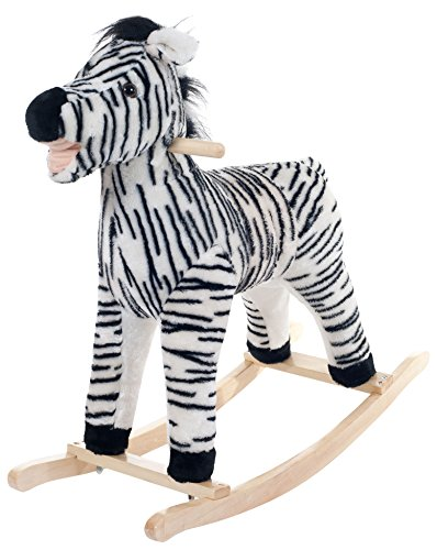 (Happy Trails Zebra Plush Rocking Animal Ride On)
