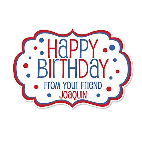 Personalized Customized Happy Birthday Gift Stickers