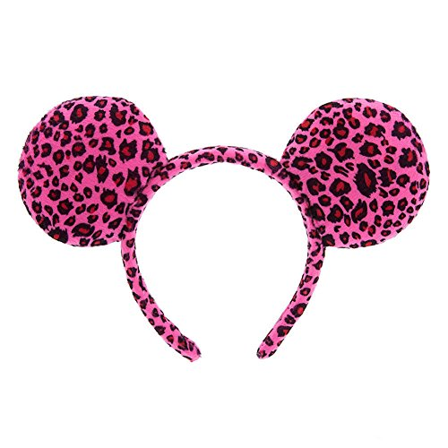 Disney Parks Minnie Mouse Ears Headband Pink Cheetah