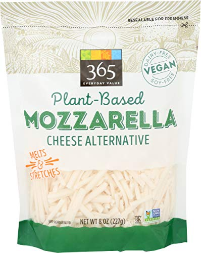 365 by Whole Foods Market, Plant-Based Cheese Shreds, Mozzarella, 8 Ounce 1