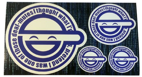 Laughing Man Large Combo Decal Kit 4 Stickers