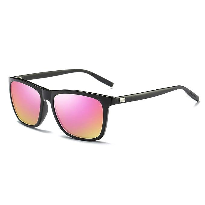 SZ LINGKE Gafas de sol cuadradas de marca polarizados para ...