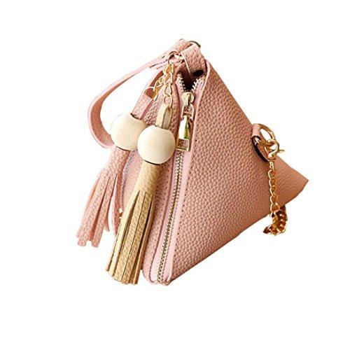 Women Handbag, Hunzed Fashion Leather Shoulder Bag Cute Tote Ladies Purse Small Coin Bag Crossbody Bag Handbag (Pink)