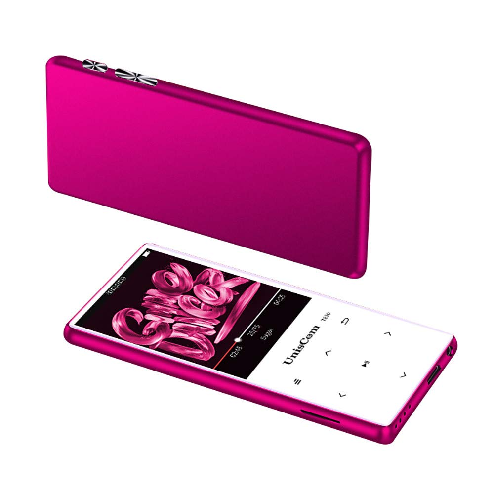 Sonmer Uniscom T830 2.4'' TFT LCD Full-Color Walkman Lossless MP3 MP4 Player, Built-in 8GB Memory,Support Recorder FM Radio Video Movie (Pink)