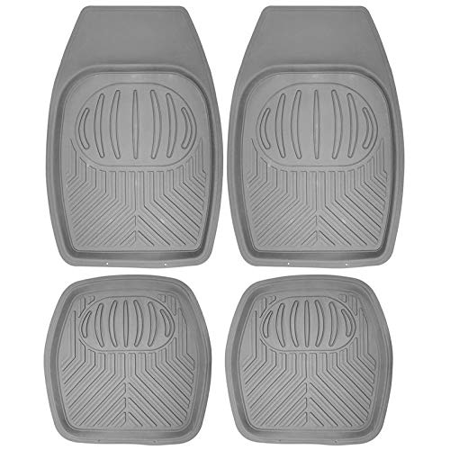 (Motorup America Auto Floor Mats All Season Rubber - Fits Select Vehicles Car Truck Van SUV, Grey  )