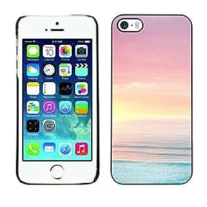 Cubierta de la caja de protección la piel dura para el Apple iPhone 5 / 5S - sea ocean summer sun beach purple