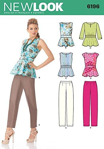 Amazon.com: New Look Ladies Sewing Pattern 6196 Peplum Tops ...