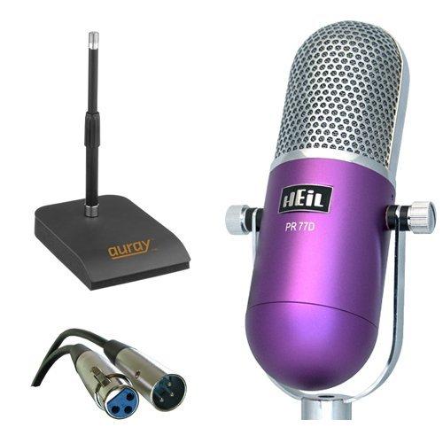 Heil Sound PR-77D Vintage Microphone (Desktop Bundle, Purple) by HEiL sound
