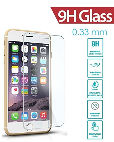 Apple iphone 5s Screen Protector, Hongqing Shop iphone 5s Tempered Glass Screen Protector, Easy Installation 0.33mm 9H Premium Tempered Glass Screen Protector, 99% Touch-screen Accurate, Round Edge [0.33mm] Ultra-clear Glass Screen Protector Perfect Fit for iPhone 5s, Ultra Thin 9H Hardness 2.5D Round Edge Tempered Glass HD Premium Screen Protector - Anti-scratch, Shatterproof, Anti-fingerprint, Water and Oil Resistant Maximum Screen Protection From Bumps, Drops, Scratches + Retail Packaging (iphone 5S glass film) (iphone 5S glass film)