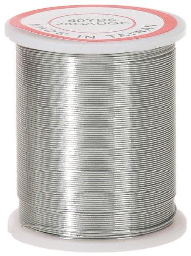Darice 28-Gauge Beading Wire, 40-Yard, Silver