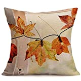 Autumn Throw Pillow Covers Happy Fall Pillow Cases Thanksgiving Day Pillow Cases Cushion Covers Holiday Decoration 18 x 18 Inches