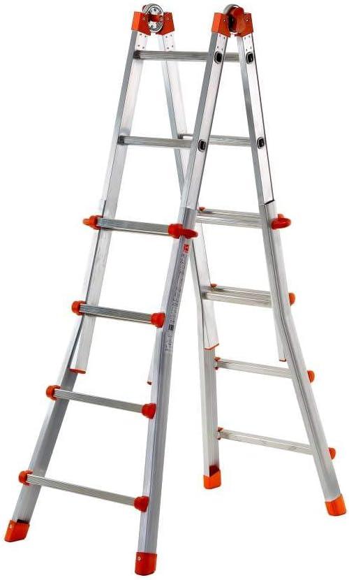 Escalera de mano Azul FACAL Briko Blu Escalera telesc/ópica Aluminio 40 cm, 150 kg, 12,5 kg, 62 mm, 12,2 cm, 12 cm