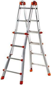 FACAL Briko Blu Escalera telescópica Aluminio, Azul - Escalera de mano (40 cm, 150 kg, 12,5 kg, 62 mm, 12,2 cm, 12 cm): Amazon.es: Bricolaje y herramientas