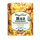 MegaFood - B12 Energy Gummies, Supports Energy Levels with Methylated Vitamin B12 and Organic Ginger, Vegan, Gluten-Free, Non-GMO, Ginger, 90 Gummies