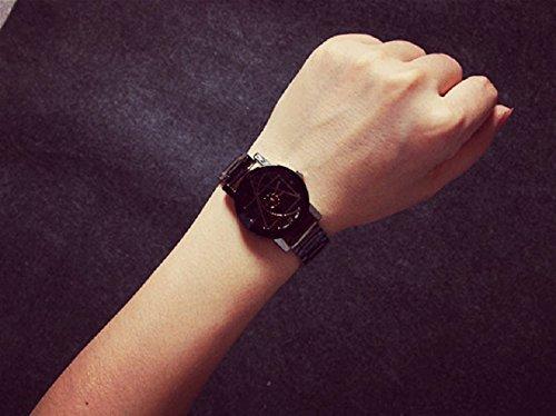 Ularmo Fashion Stainless Steel Man Quartz Analog Wrist Watch
