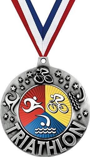 Crown Awards Silver Triathlon Medal - 2 1/4