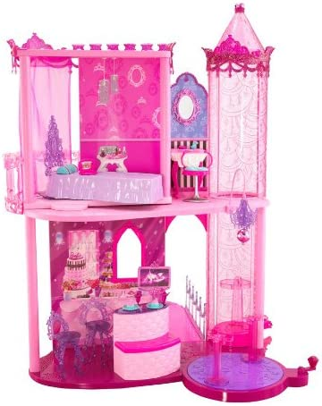 Amazon Com Barbie Fashion Fairytale Palace Toys Games