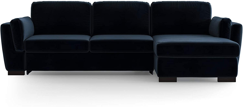 Marie Claire Home - Sofá de Esquina Recto Convertible Bree, Azul