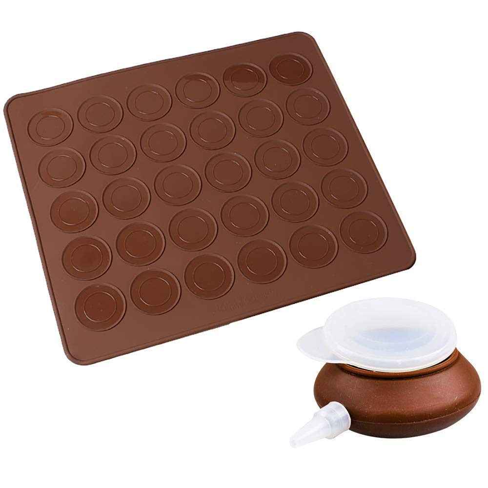 MyLifeUNIT Macaron Kit with Decomax Pen and 30 Capacity Baking Mat by MyLifeUNIT