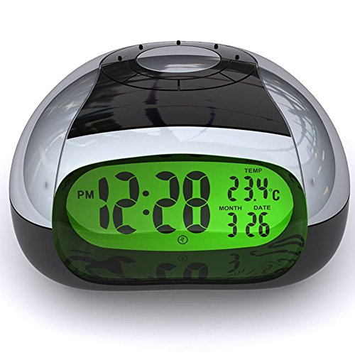 Digital Clock Temperature and Talking Alarm Clock with LCD Display Lcd ,Simple Electronic Talking Clock(Silver) (AC01)