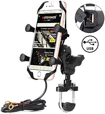 MOTOPOWER Soporte de teléfono Celular para Motocicleta con ...